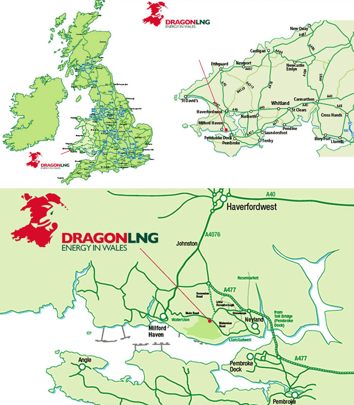 Contact Dragon LNG - Us map dragon